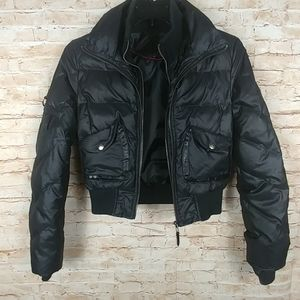 Express Black bomber style double-layer zipper S